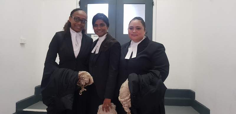 Left to right- State lawyer Lavenia Bogitini, Assistant DPP Dato Shyamala Alagendra and Juleen Fatiaki