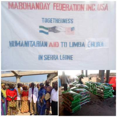 Mabohanday Donates 200 Bags of Rice to 10 Limba Churches across Freetown