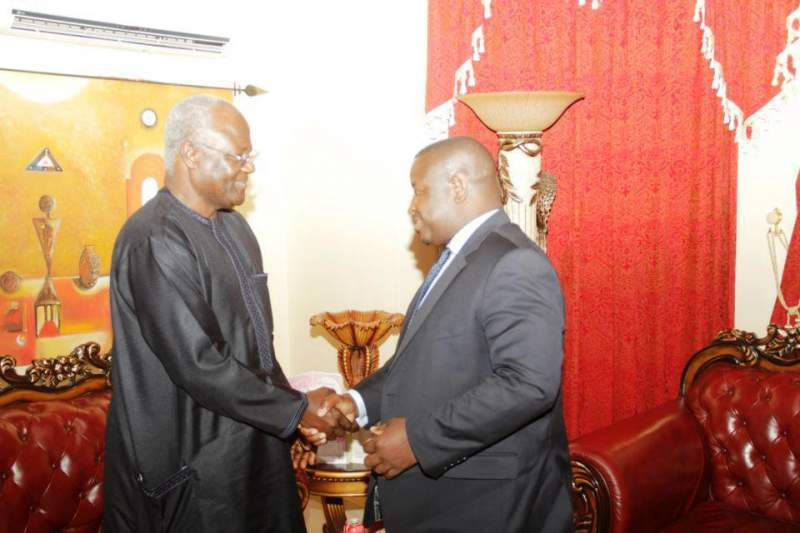 (right) President Bio, leader of SLPP Government and Former President Koroma, Chairman and Leader of the APC (left)